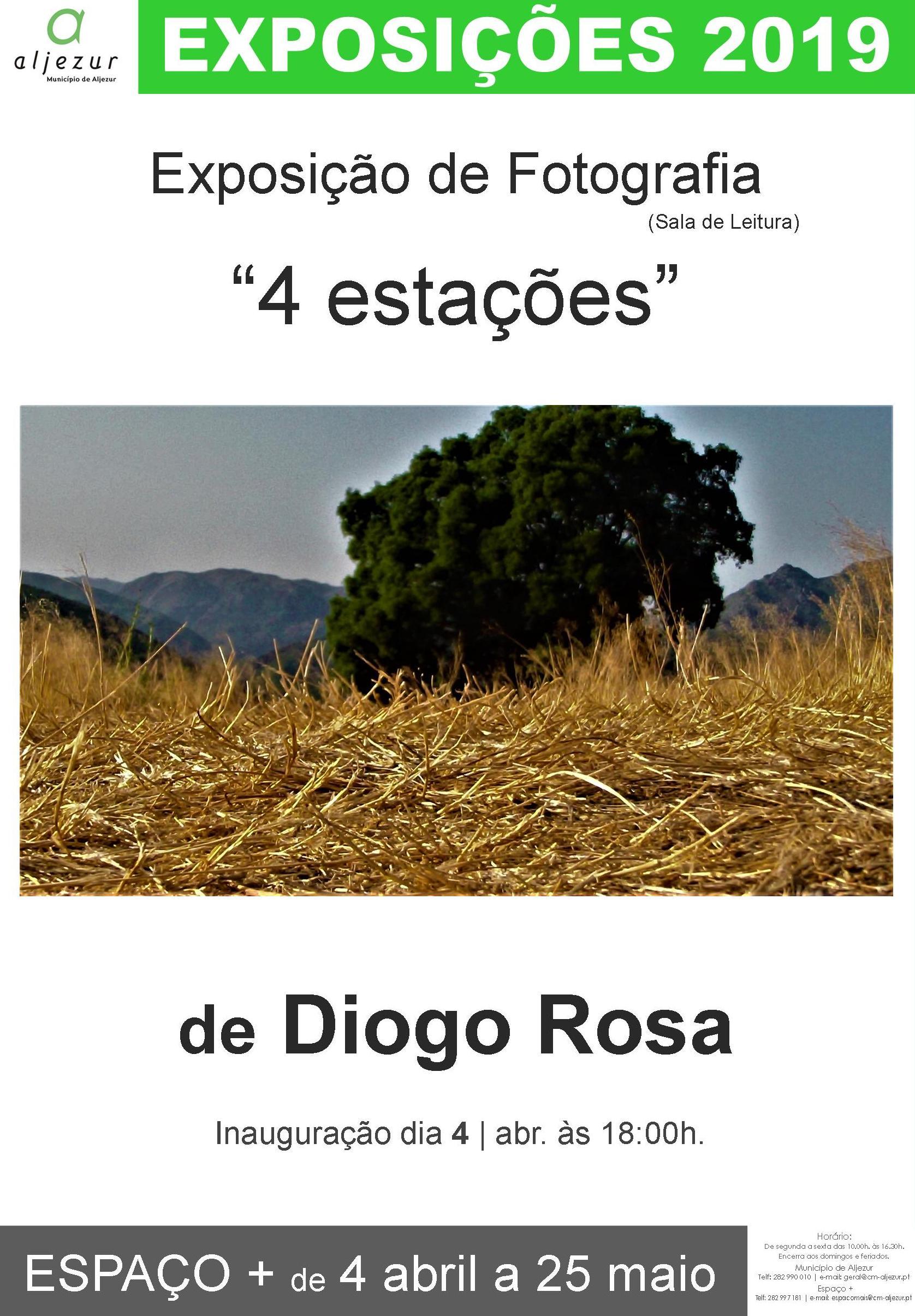 """""""4 Estações"""" de Diogo Rosa - Exposição de Fotografia"""