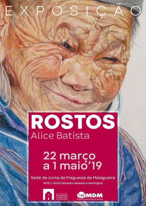 """Exposição """"Rostos"""", de Alice Batista"""