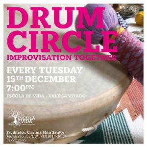 Drum Circle - every Tuesday in Vale Santiago